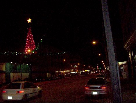 Third Avenue, Saskatoon, at Christmas time